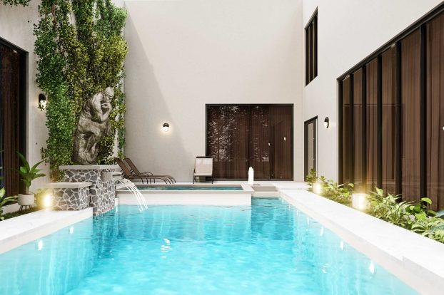 apartament modern cu piscina